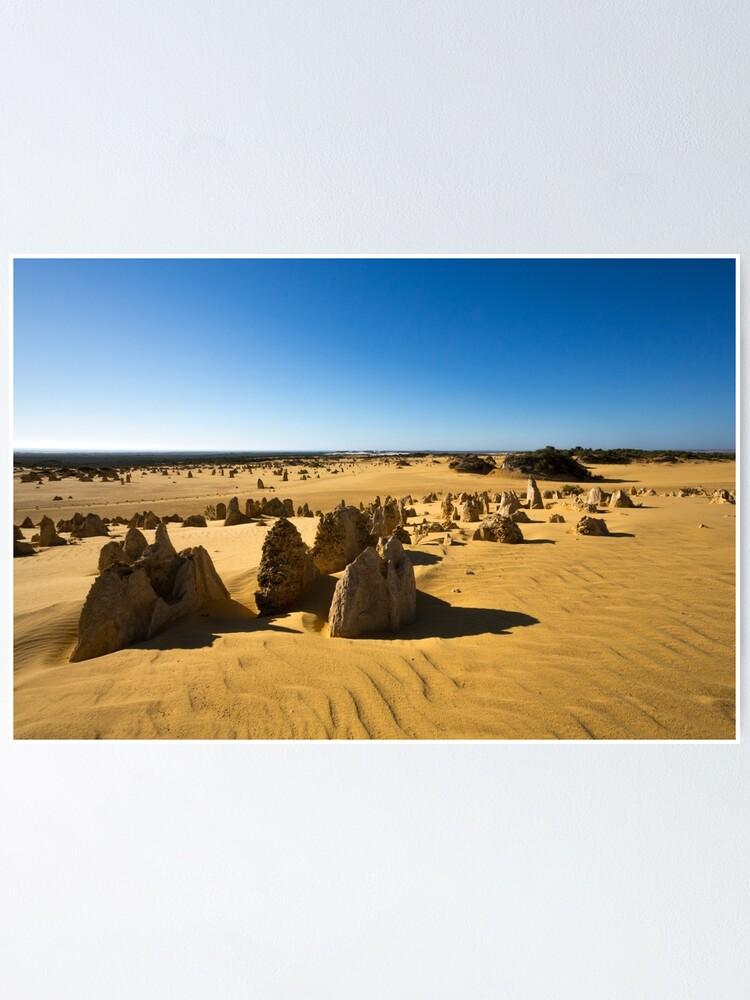 Alternate view of The Pinnacles, Western Australia Poster