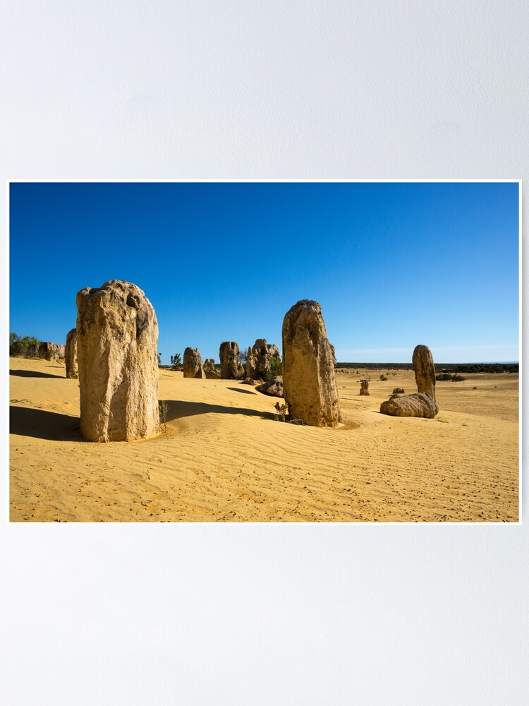 Alternate view of The Pinnacles, Western Australia Poster