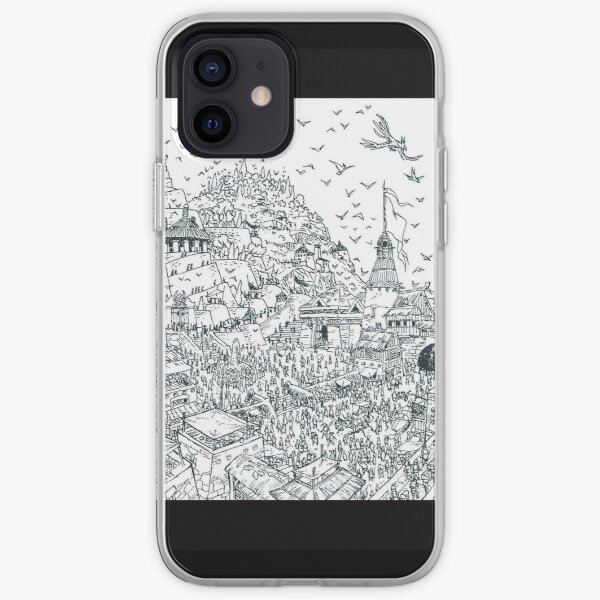 heroic fantasy city iPhone Soft Case