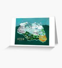 Provinces Of Skyrim Greeting Card