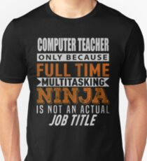 ACOMPUTER TEACHER Unisex T-Shirt