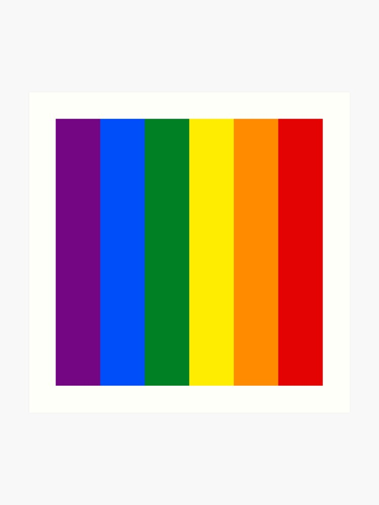 68e5582c3a5 Vertical Gay Pride Rainbow Flag