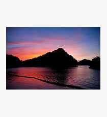 Palau Sunset Photographic Print