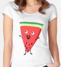 Mr Watermelon Women's Fitted Scoop T-Shirt