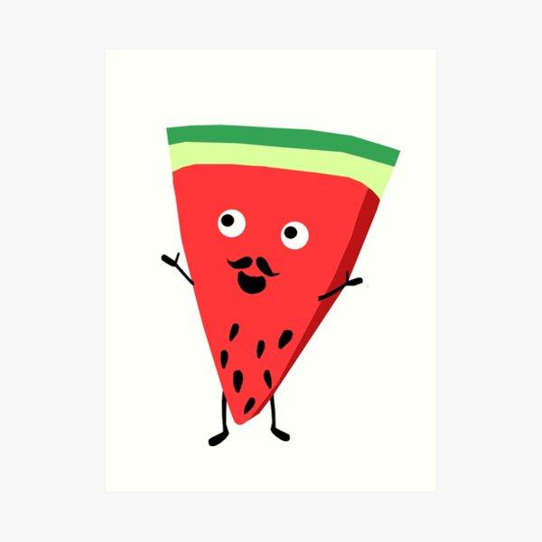 Mr Watermelon Art Print