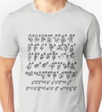 ASL (American Sign Language) Tshirt - Cheat Sheet Unisex T-Shirt