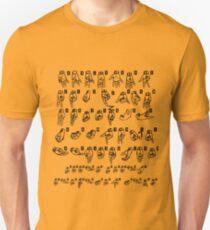 ASL (American Sign Language) Tshirt - Cheat Sheet Unisex T-Shirt