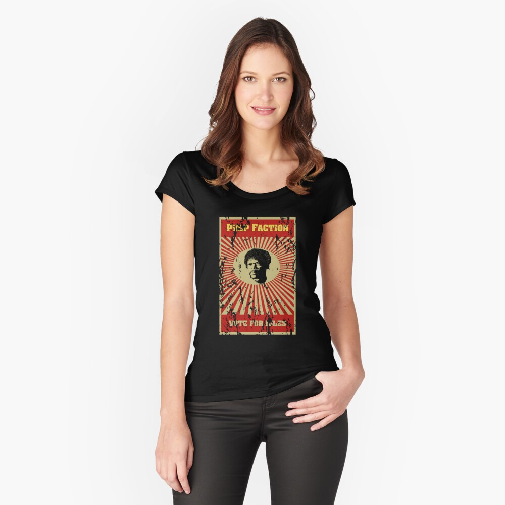 Pulp Faction - Jules Women's Fitted Scoop T-Shirt Front