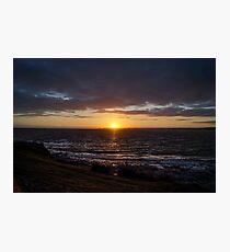 Sunset over South Wales Coast Photographic Print
