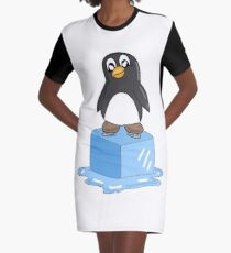 Penguin on ice Graphic T-Shirt Dress