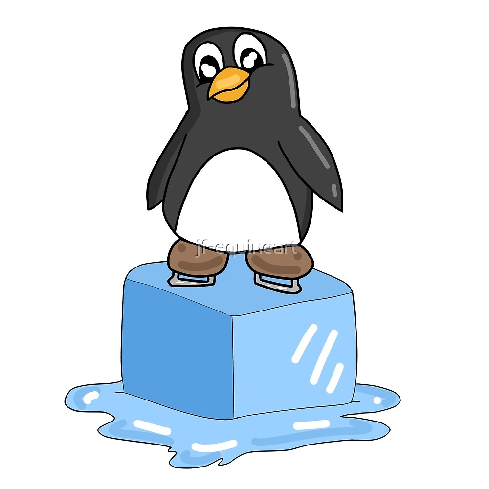 Penguin on ice by jf-equineart