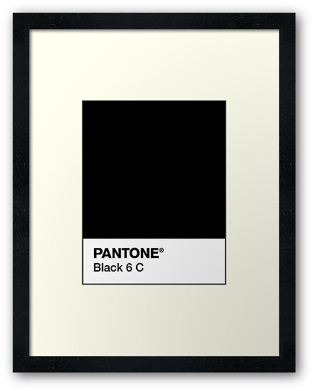 """PANTONE BLACK 6 C"" Framed Art Print by camboa 