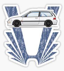 white EF 2 Sticker