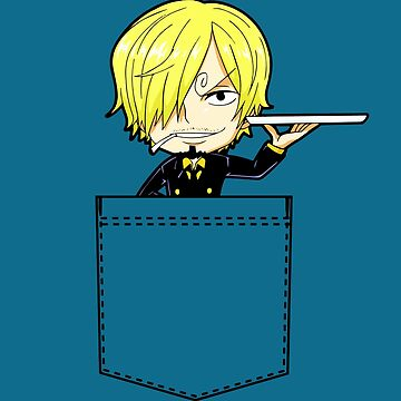 Chibi Sanji in a pocket by RedXIV