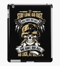 Awesome Soldier Quote Skull Artwork iPad Case/Skin