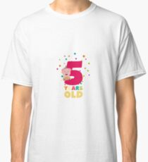 Camiseta clásica Five Years old fifth Birthday Party Re6bl