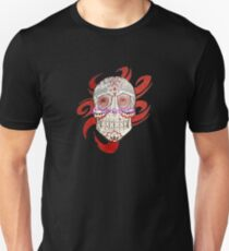 Black and red skull design   T-Shirt