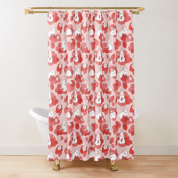 Strawbunny Delight Shower Curtain