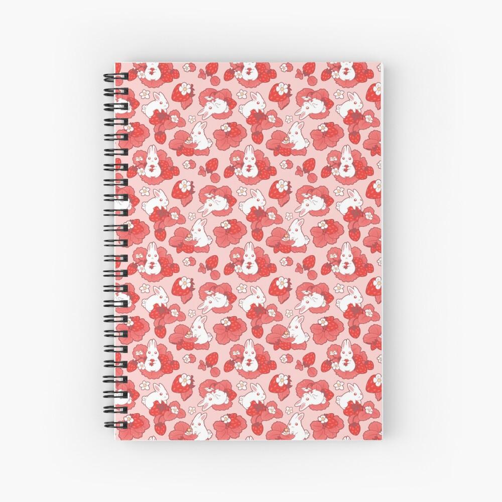 Strawbunny Delight Spiral Notebook