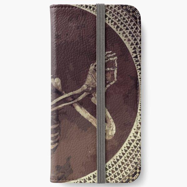 Hannibal: Dancing Skull + Skeleton Mosaic  iPhone Wallet