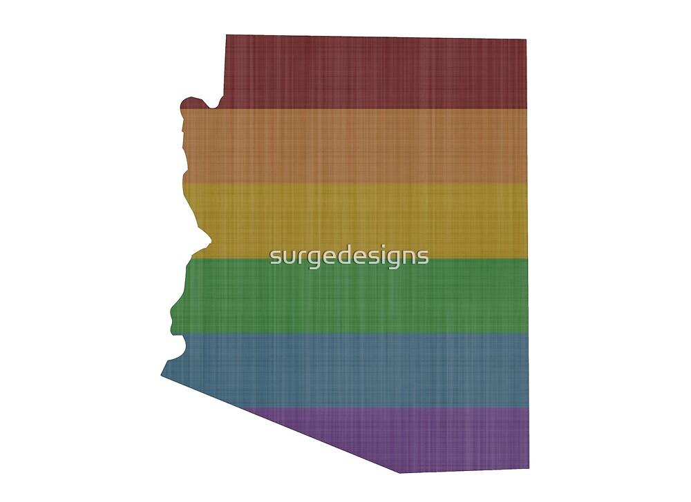 Arizona  Rainbow Gay Pride by surgedesigns