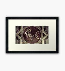 Hannibal: Dancing Skull + Skeleton Mosaic  Framed Print