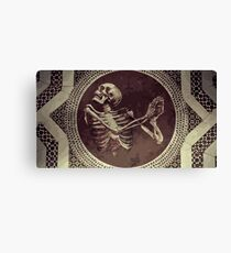 Hannibal: Dancing Skull + Skeleton Mosaic  Canvas Print