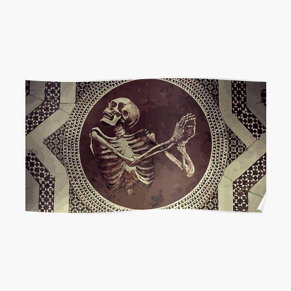 Hannibal: Dancing Skull + Skeleton Mosaic  Poster