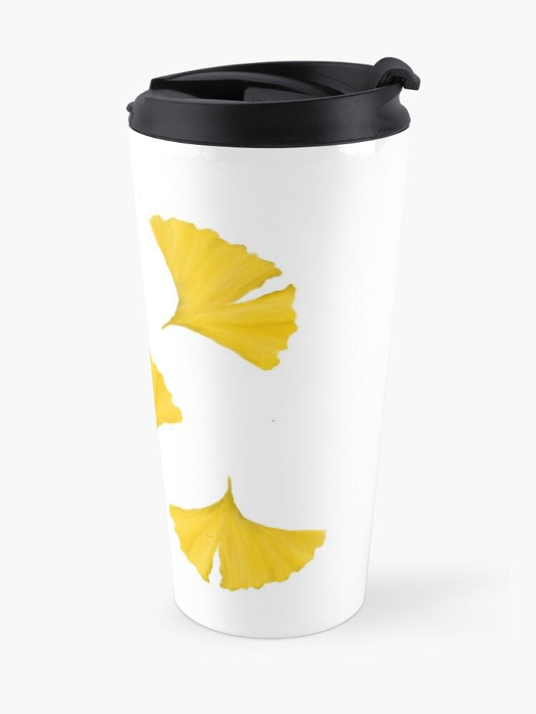 Alternate view of Ginko Leaves Travel Mug