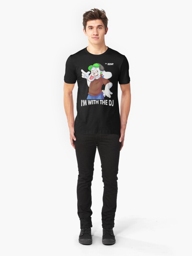 Alternate view of I'M WITH THE DJ Slim Fit T-Shirt
