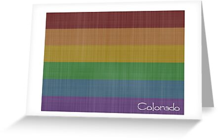 Colorado  Rainbow Gay Pride by surgedesigns