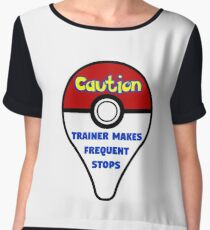 Trainer Makes Frequent Stops Chiffon Top