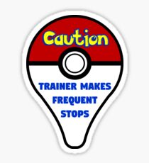 Trainer Makes Frequent Stops Sticker