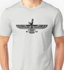 Faravahar, Winged Sun, Symbol Of Higher Spirit Unisex T-Shirt