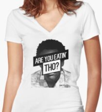 Childish Gambino- Are You Eatin' Tho? Women's Fitted V-Neck T-Shirt