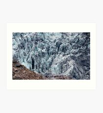 Fox Glacier Art Print