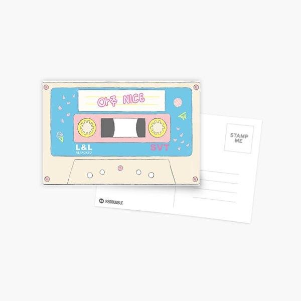 Seventeen Aju Nice Cassette Tape Postcard