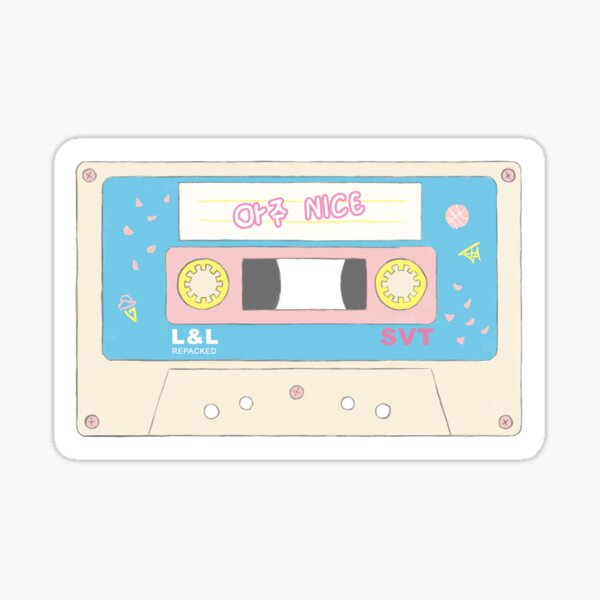 Seventeen Aju Nice Cassette Tape Sticker