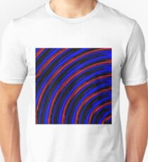 graffiti line drawing abstract pattern in blue red and black Unisex T-Shirt
