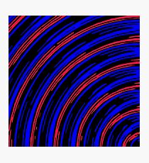 graffiti line drawing abstract pattern in blue red and black Photographic Print