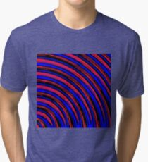 graffiti line drawing abstract pattern in red blue and black Tri-blend T-Shirt