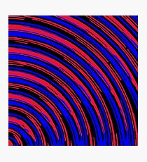 graffiti line drawing abstract pattern in red blue and black Photographic Print