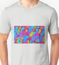 splash graffiti painting abstract in pink blue green Unisex T-Shirt