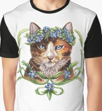 Floral Feline Graphic T-Shirt