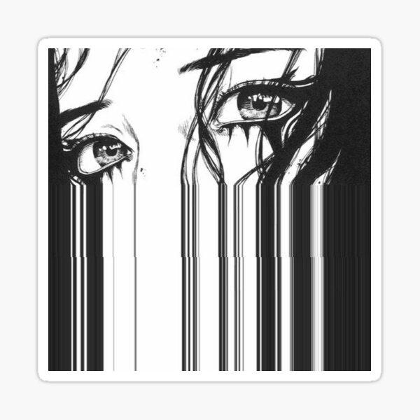 Anime Glitch Eye Art Sticker