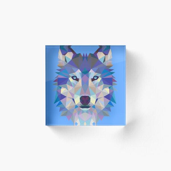 Geometric Wolf Acrylic Block