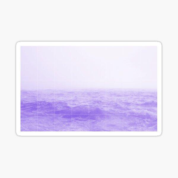 lavender sea Sticker