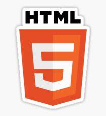 Pegatina HTML5 lenguaje de programación logo