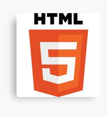 HTML 5 programming language logo Canvas Print