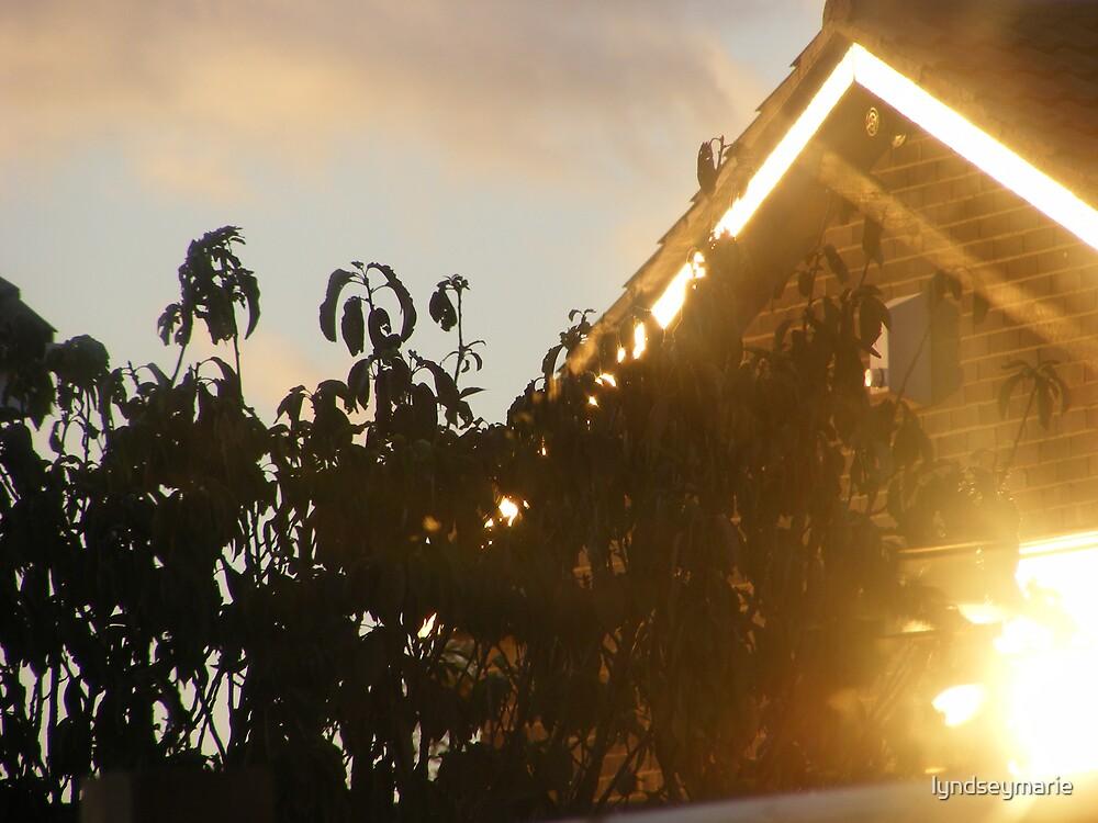 Sun setting  by lyndseymarie